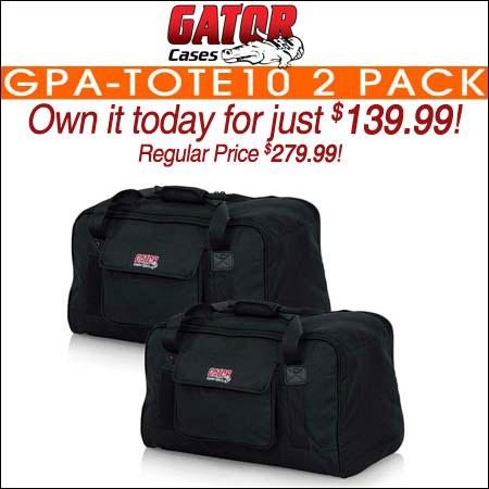 Gator GPA-TOTE10 2 Pack