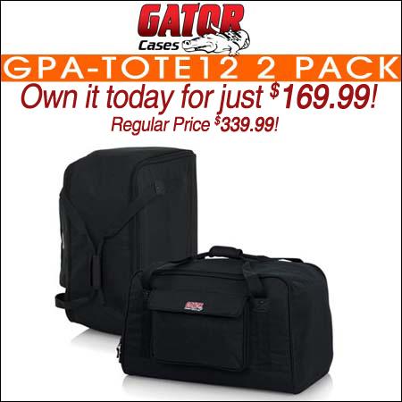 Gator GPA-TOTE12 2 Pack