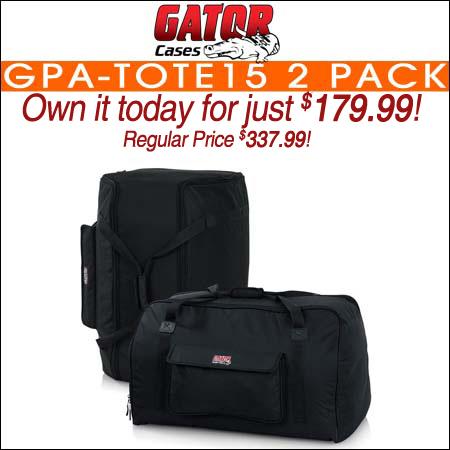 Gator GPA-TOTE15 2 Pack