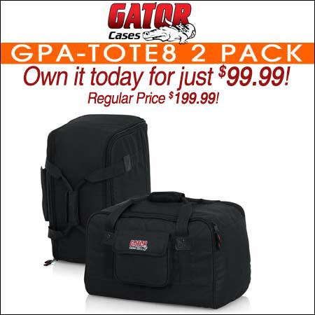 Gator GPA-TOTE8 2 Pack