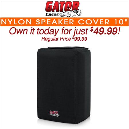 """Gator Nylon Speaker Cover; 10"""""""
