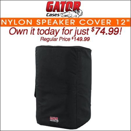 """Gator Nylon Speaker Cover; 12"""""""
