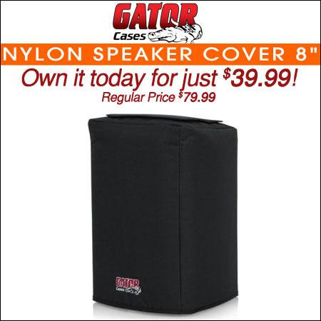 """Gator Nylon Speaker Cover; 8"""""""