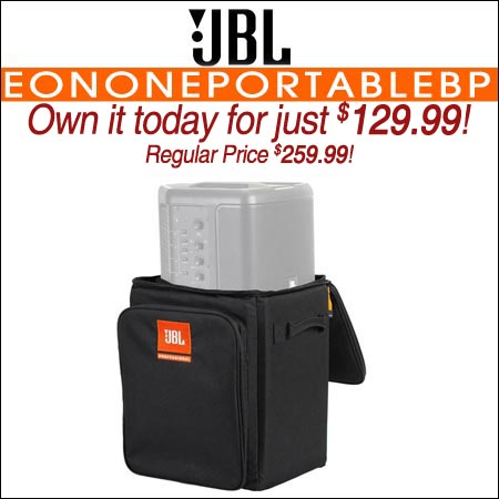 JBL EONONEPORTABLEBP Backpack Travel Bag Case for EON ONE COMPACT Speaker
