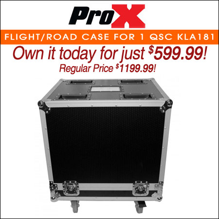 ProX Flight/Road Case for 1 QSC KLA181 Subwoofer