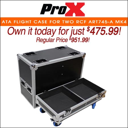 ProX ATA Flight Case For Two RCF ART745-A MK4 Speakers