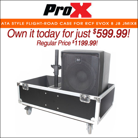 ProX ATA Style Flight-Road Case For RCF EVOX 8 J8 JMIX8 Speaker Array System