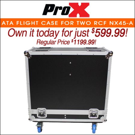 ProX ATA Flight Case For Two RCF NX45-A Speakers