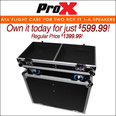 ProX ATA Flight Case for Two RCF TT 1-A Speakers