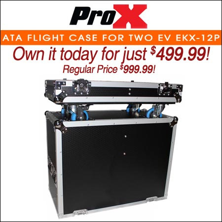 ProX ATA Flight Case for Two EV EKX-12P Speakers