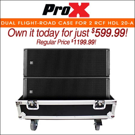 ProX Dual Flight-Road Case for 2 RCF HDL 20-A Line Array Speakers W-Wheels