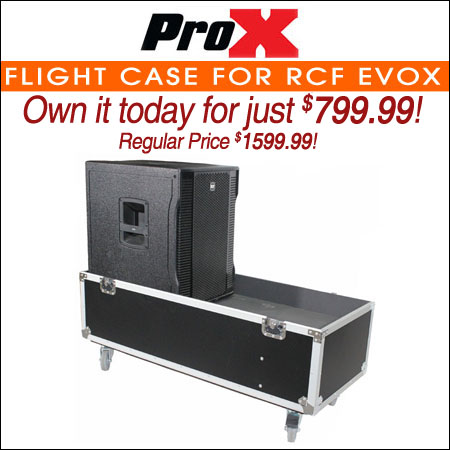 ProX Flight Case For RCF EVOX Speaker Compact Array System Kit - Fits Two Speakers and Subwoofers