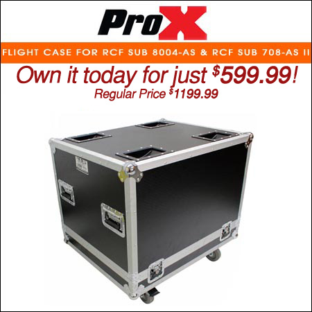 ProX Flight Case for RCF SUB 8004-AS & RCF SUB 708-AS II Subwoofer Speakers W-4 In