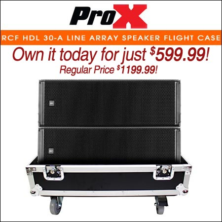 ProX Fits RCF HDL 30-A Line Array Speaker Flight Case W/Wheels (Holds 2 Speakers)