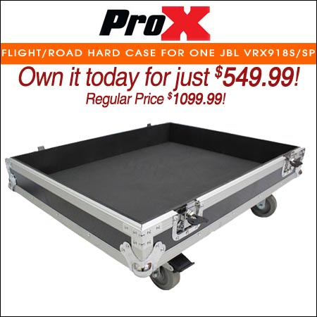 ProX Flight/Road Hard Case for One JBL VRX918S/SP