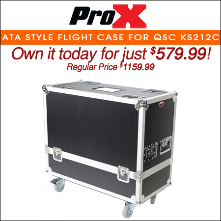 ProX ATA Style Flight Case for QSC KS212C