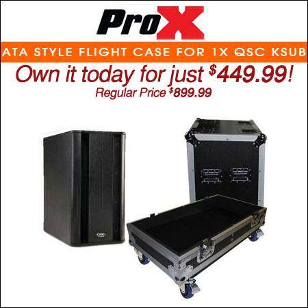 ProX ATA style Flight Case for 1x QSC KSUB Speaker