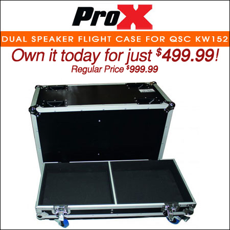 ProX Dual Speaker Flight Case for QSC KW152