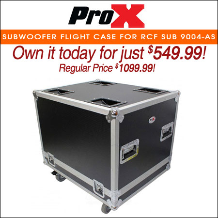 "ProX Subwoofer Flight Case for RCF SUB 9004-AS W/4"" Wheels"
