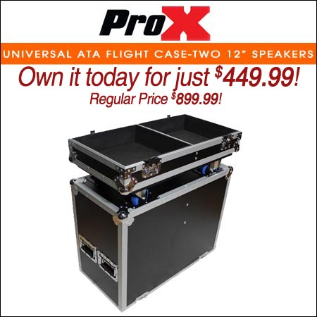 ProX Universal ATA Flight Case for Two 12 inch Speakers