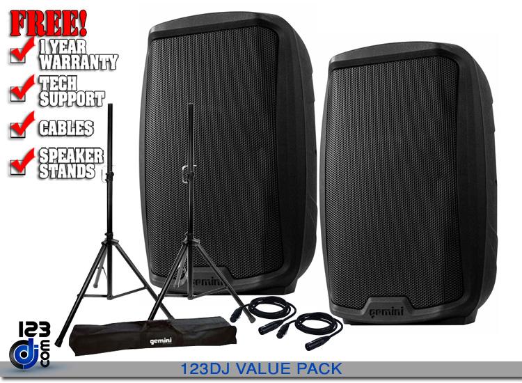 """Gemini AS-2110BT 15"""" Powered Loudspeaker with Bluetooth"""