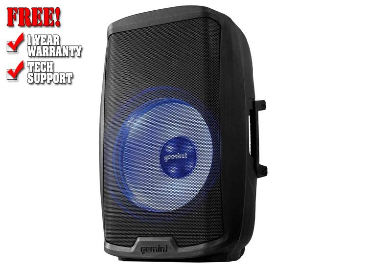 """Gemini AS-2115BT-LT Active 15"""" LED Party Light Loudspeaker"""