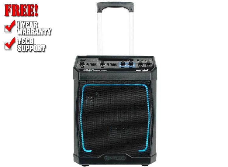 Gemini MPA-3600 Portable Rechargeable Bluetooth Speaker
