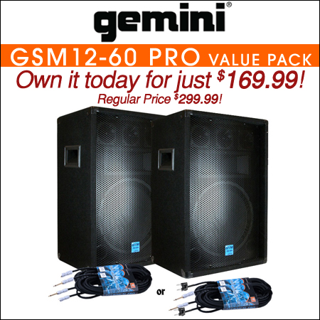 Gemini GSM12-60 Pro VALUE PACK