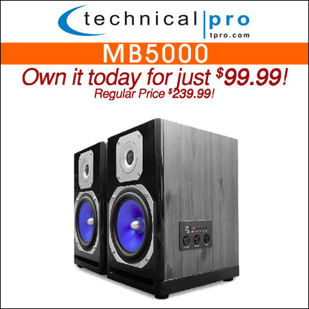 Technical Pro MB5000 Monitor Speakers with Bluetooth Connectivity