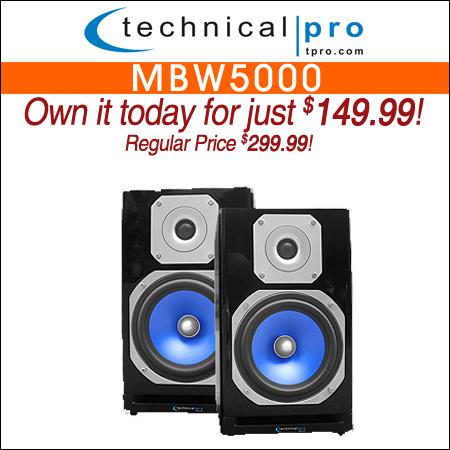 Technical Pro Bluetooth Studio Wireless Monitor Speakers (MBW5000)