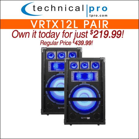 Technical Pro VRTX12L Pair