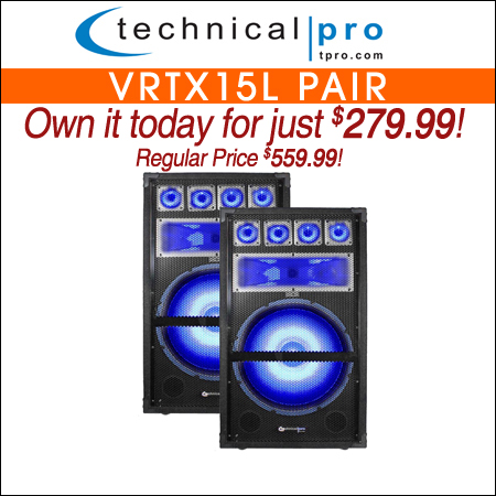 Technical Pro VRTX15L Pair