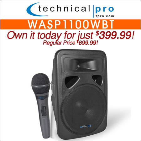 Technical Pro WASP1100WBT