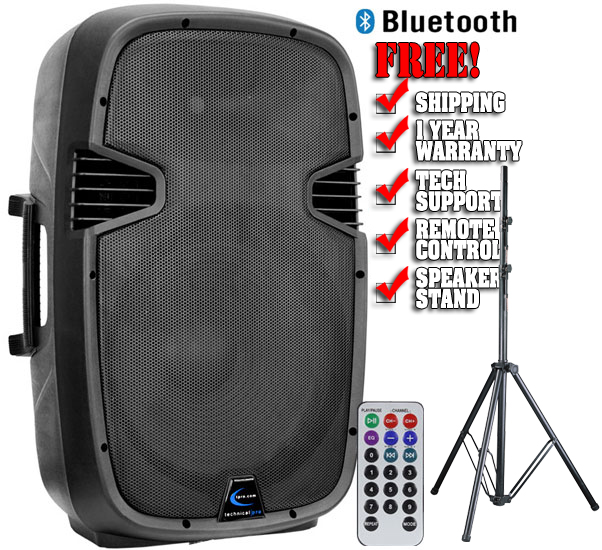 Technical Pro Pw1600pkg Speaker With Stand Microphone And