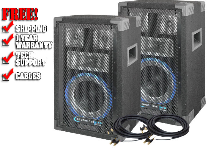 Technical Pro Vrtx8 Dj Speaker Dj Speakers Dj Audio