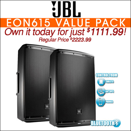 JBL EON615 Value Pack