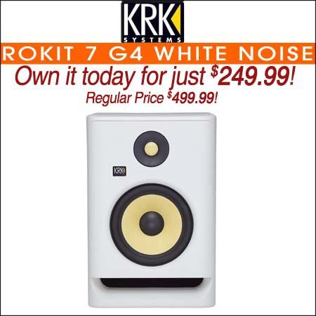 """KRK ROKIT 7 G4 White Noise 7"""" Powered Studio Monitor"""