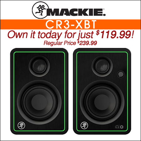"Mackie CR3-XBT 3"" Multimedia Monitors with Bluetooth"