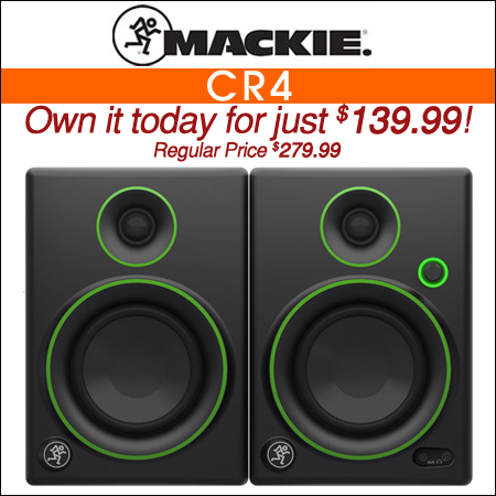 Mackie CR4 Studio Monitors
