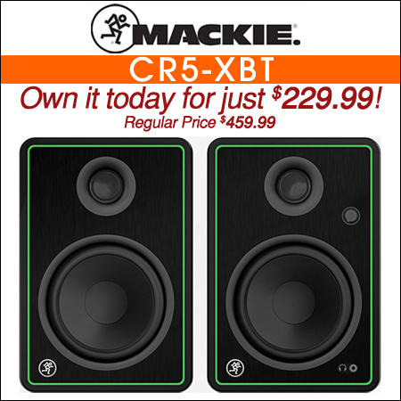 Mackie CR5-XBT Powered Bluetooth Studio Monitors