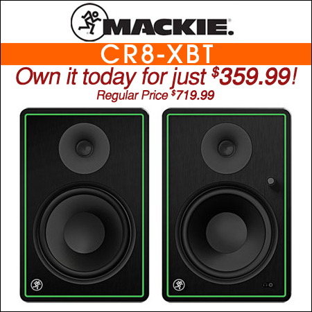 "Mackie CR8-XBT 8"" Multimedia Monitors with Bluetooth"