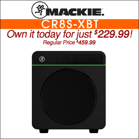 "Mackie CR8S-XBT 8"" Multimedia Subwoofer with Bluetooth"