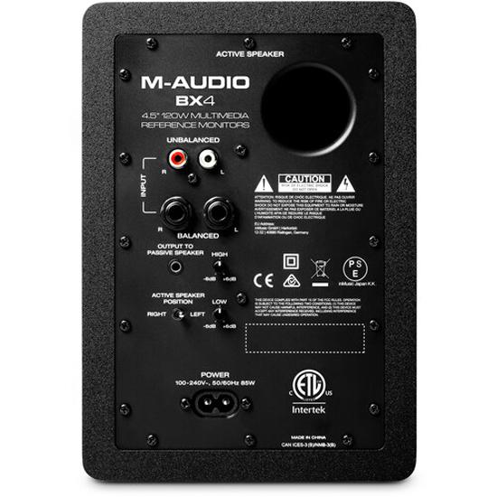 M-Audio BX4 4.5-inch Powered Studio Monitor - Pair