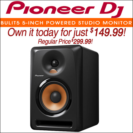 Pioneer BULIT5 5-Inch Powered Studio Monitor