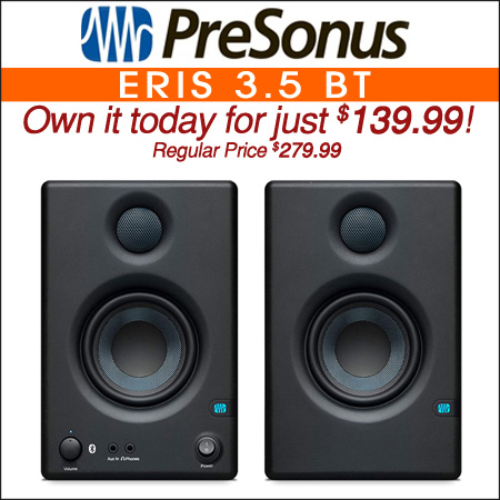 PreSonus Eris 3.5 BT 3.5 inch Powered Studio Monitors with Bluetooth