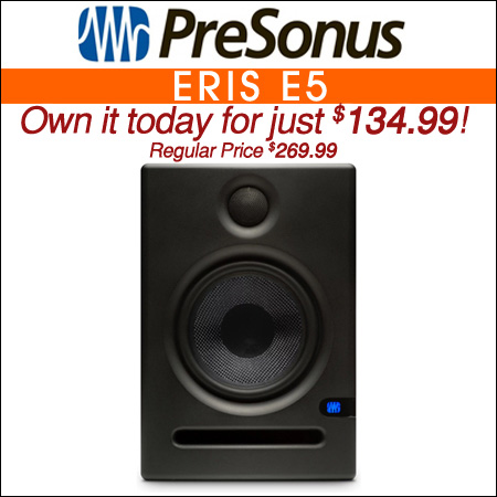 PreSonus Eris E5 5inch Powered Studio Monitor
