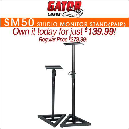 Gator GFW SPK SM50 Studio Monitor Stand (pair)