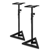 Technical Pro Professional Steel Triple Tripod Speaker Stand Pair Black