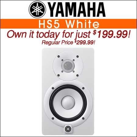 Yamaha HS5 White Powered Studio Monitor