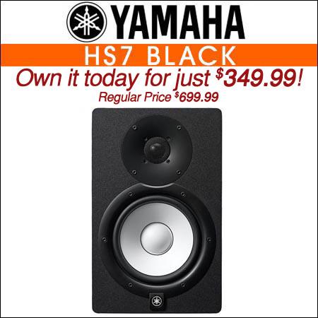 Yamaha HS7 Black Powered Studio Monitor